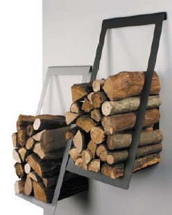A E Saving Alternative To Freestanding Log Holder This Wall Mounted Firewood Rack Offers Distinct Contemporary Styling And Sy One Piece Steel